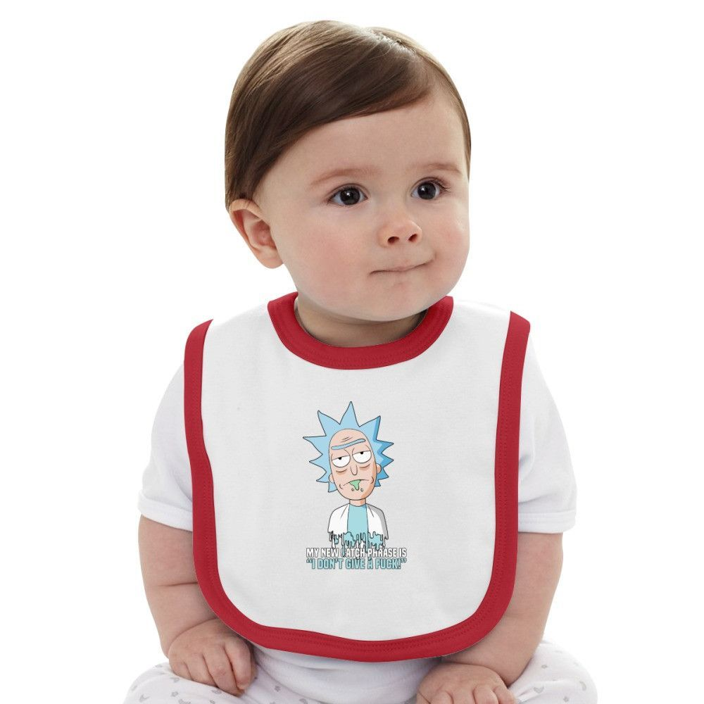 Rick And Morty Baby Bib