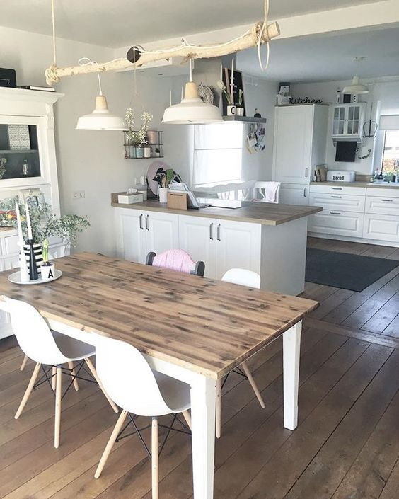 Kitchendreams- 10 Fakten über meine Küche im modernen Landhausstil Read more... #esszimmerlampe