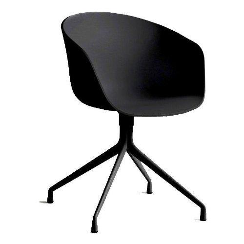 Hay About A Chair 20 Drehstuhl Mit Armlehnen Schwarz Gestell Aluminium Pulverbeschichtet Schwarz Mit Kunststoffgleitern Online Kaufen Bei Woonio Drehstuhl Stuhle Drehstuhl Esszimmer