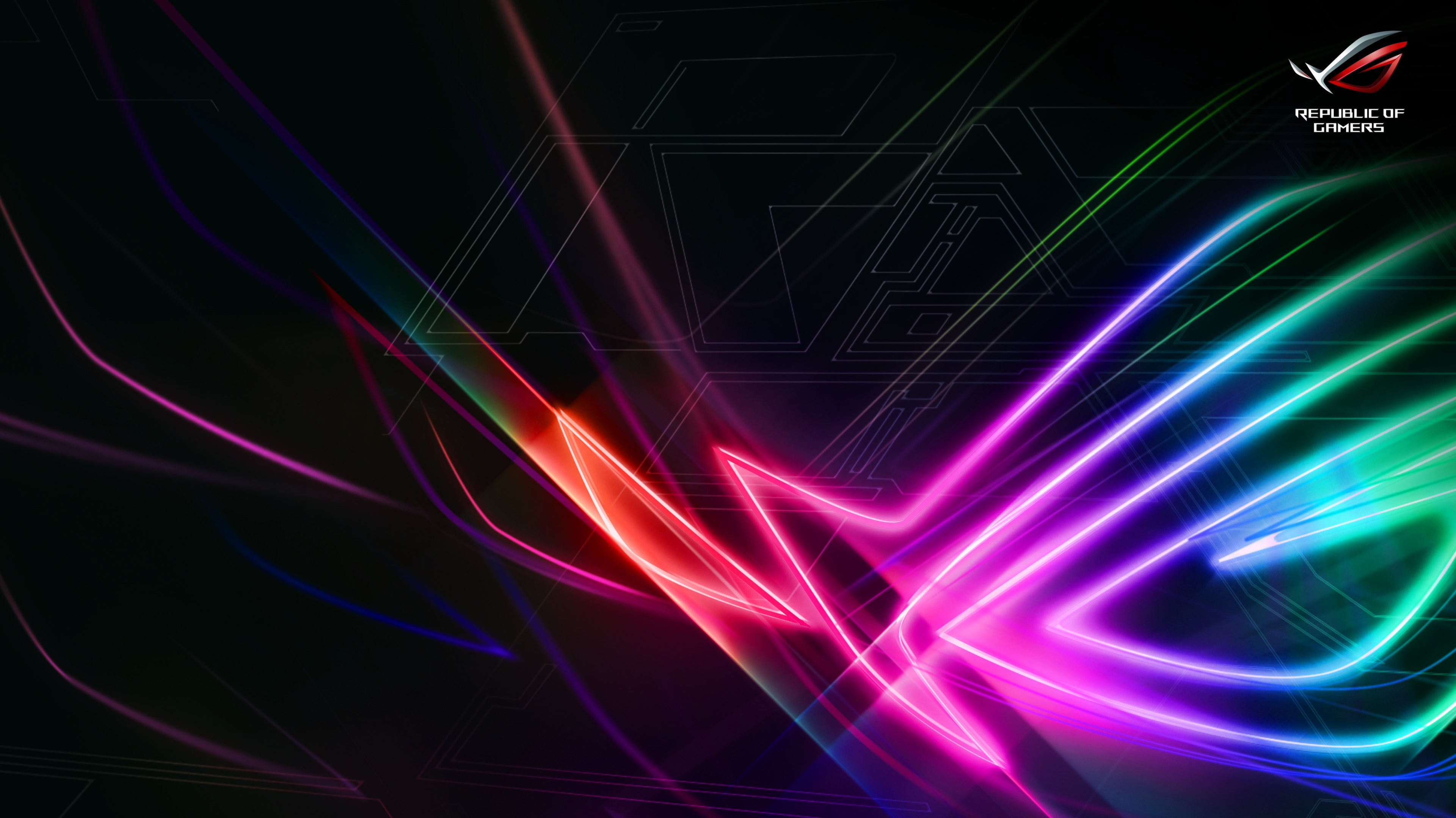 Asus Rog Wallpaper: 4K ASUS ROG (Republic Of Gamers) Strix Logo 3840x2160 UHD