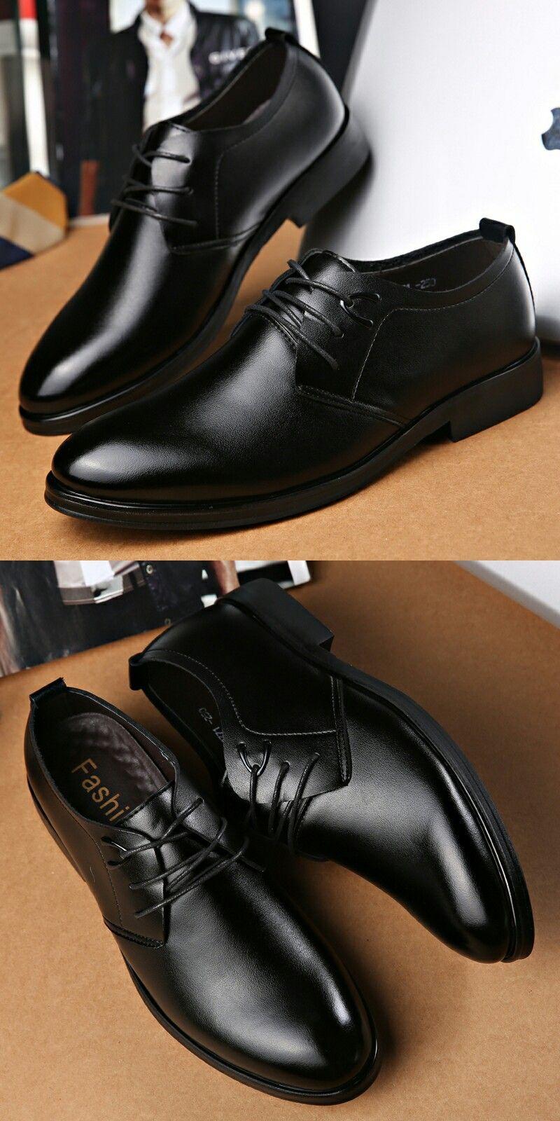 business mens basic flat leather gentle wedding dress shoes
