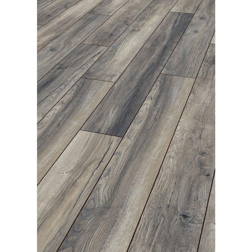 Home decorators collection grey harbour oak 12 mm thick x Gray laminate flooring