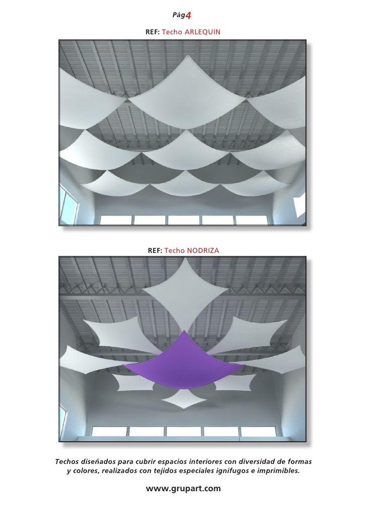 Resultado de imagen de como cubrir un techo con tela - Cama con techo de tela ...