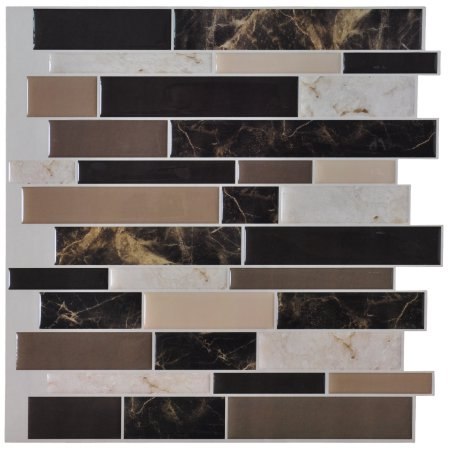 Home Improvement Adhesive Backsplash Peel Stick Tile Stick On