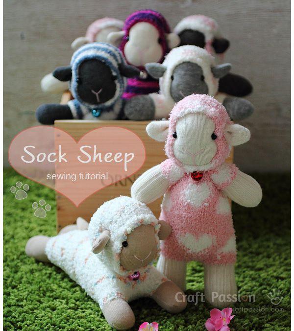 Sock Sheep - Free Sew Pattern | Sockentiere, Stofftiere und ...