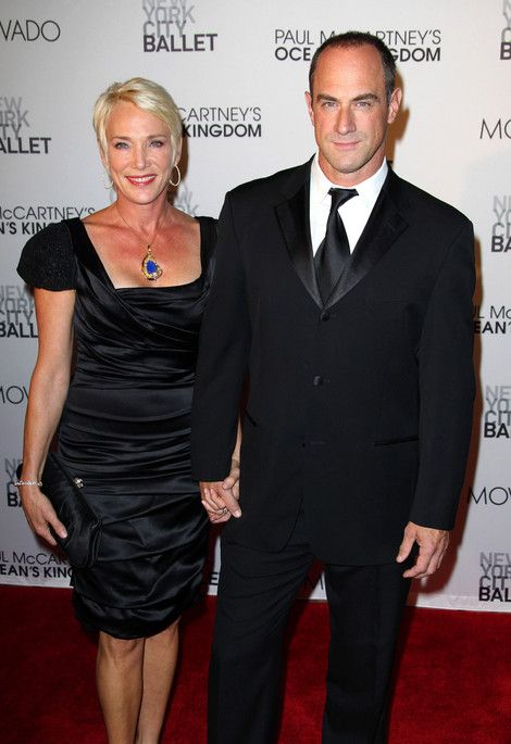 Christopher Meloni con encantador, Esposa Sherman Williams