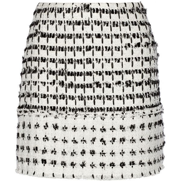 Erdem Mari tweed mini skirt ($320) ❤ liked on Polyvore featuring skirts, mini skirts, erdem, bottoms, zipper mini skirt, zipper skirt, erdem skirt and mini skirt