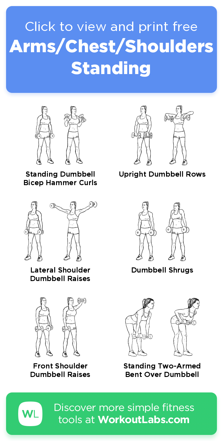 Arms/Chest/Shoulders Standing · Free workout by WorkoutLabs Fit