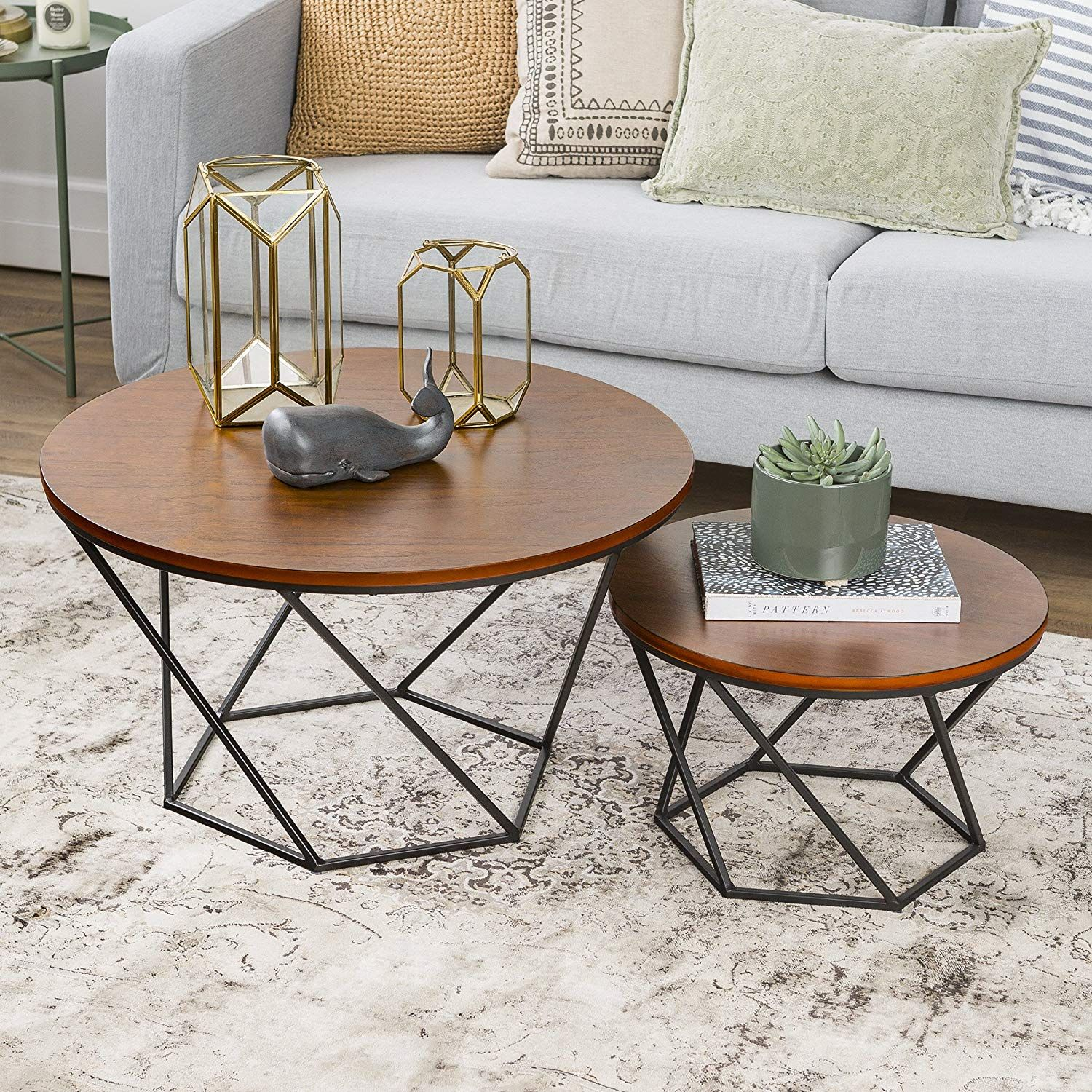 Geometric Wood Nesting Coffee Tables Structural With A Hint Of