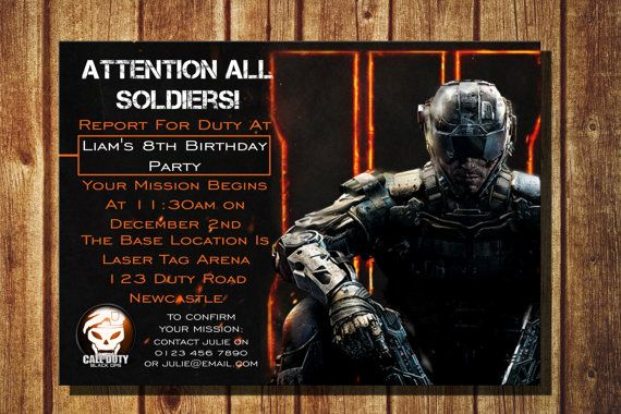 call of duty black ops 3 digital birthday invitation call of duty black ops 3 digital birthday invitation personalized with your details with filmwisefo Image collections