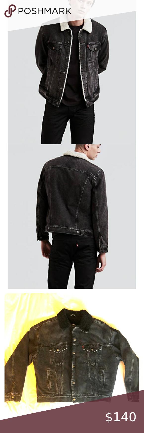 Rare! Levi's Vintage Mens Denim & Sherpa Jacket in 2020
