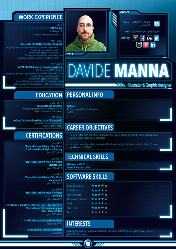 Cv Portfolio Uk On Student Show Game Design Video Game Design Resume Design