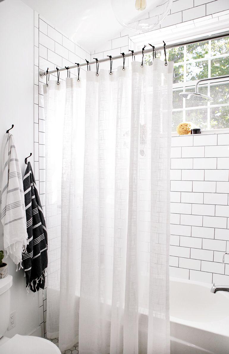 Diy Leather Shower Curtain Rings Diy Shower Curtain Black