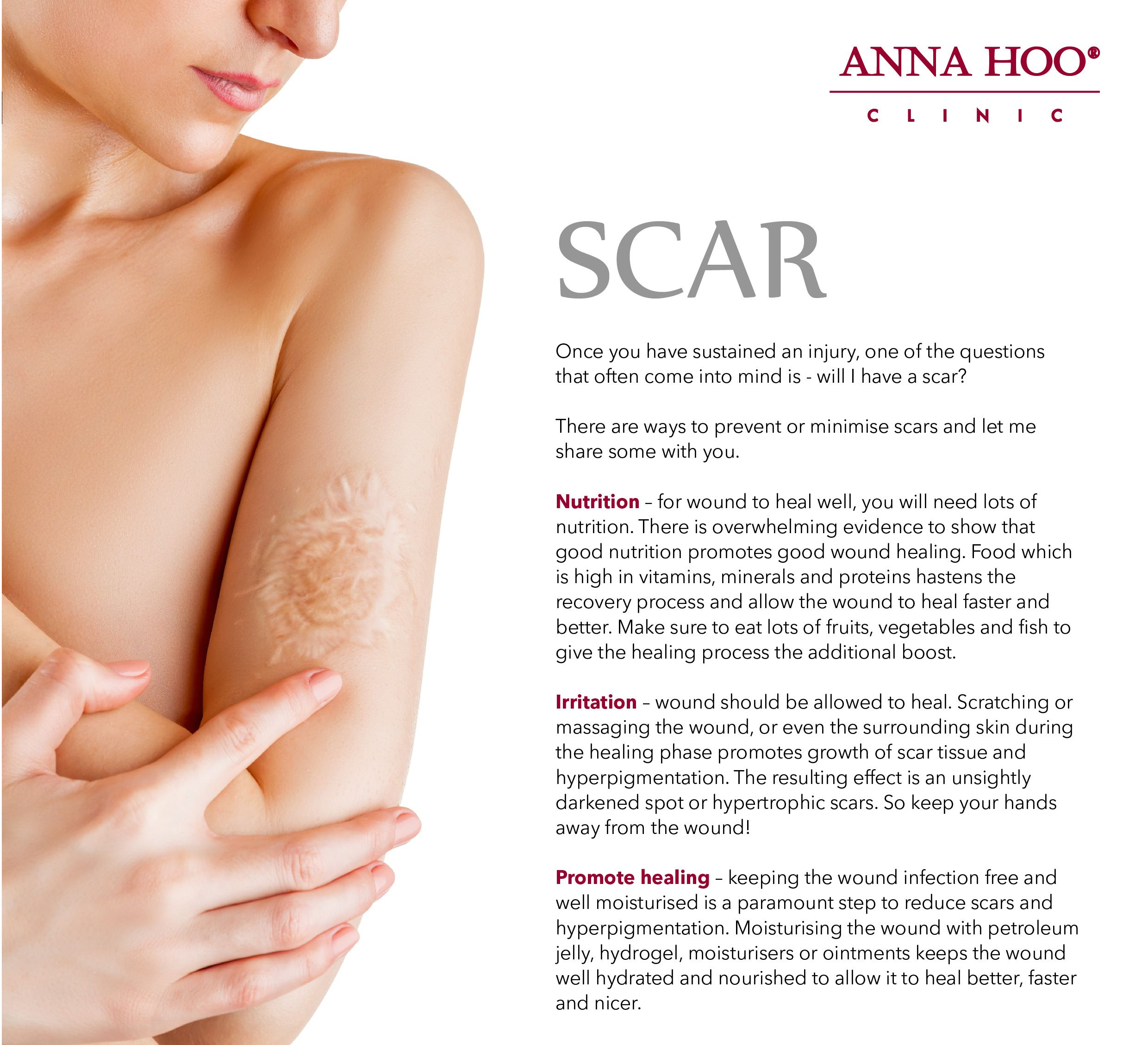 A scar is a permanent patch of skin that grows over a wound  It
