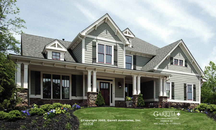 garrell associates inc. melbourne house plan # 05208, front