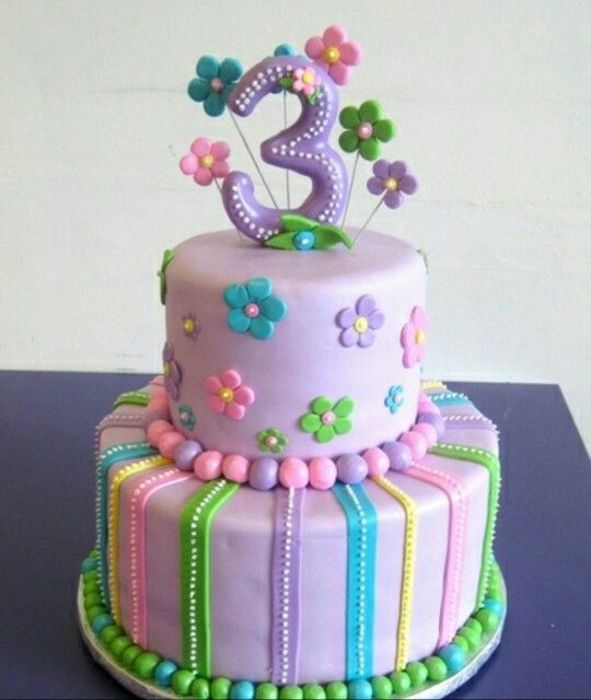 Pastel Colours Cake With Images 3rd Birthday Cakes Birthday