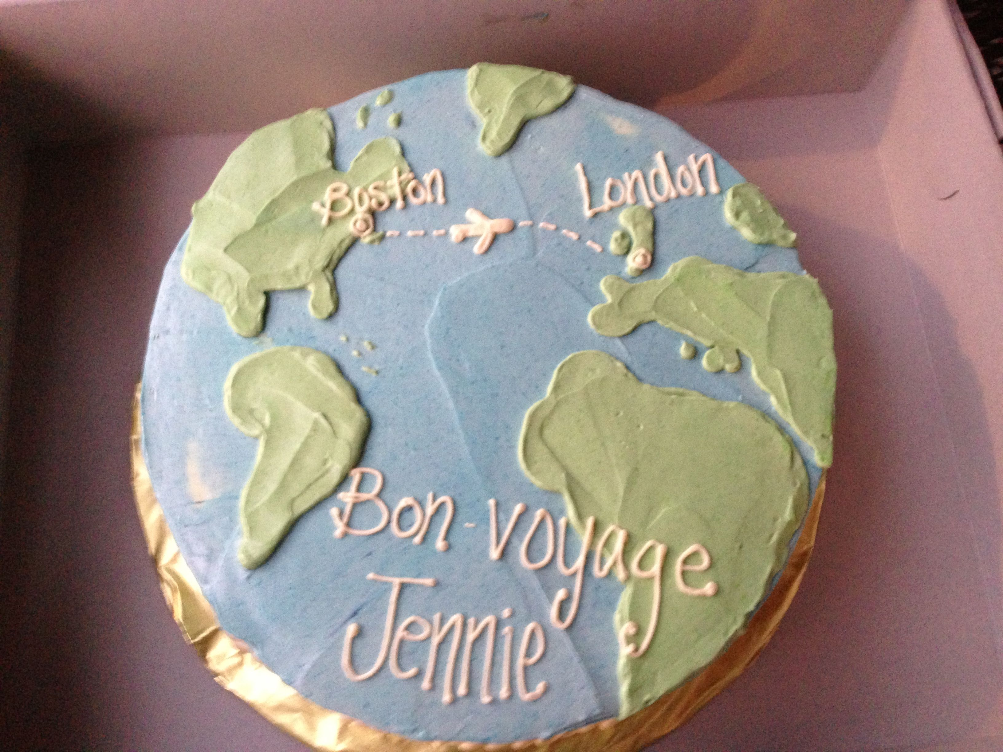 Cake Decorating Ideas Bon Voyage : Bon voyage cake! Party Ideas Pinterest Bon voyage ...