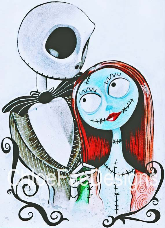 Tim Burtons Nightmare Before Christmas Jack Skellington and (con ...