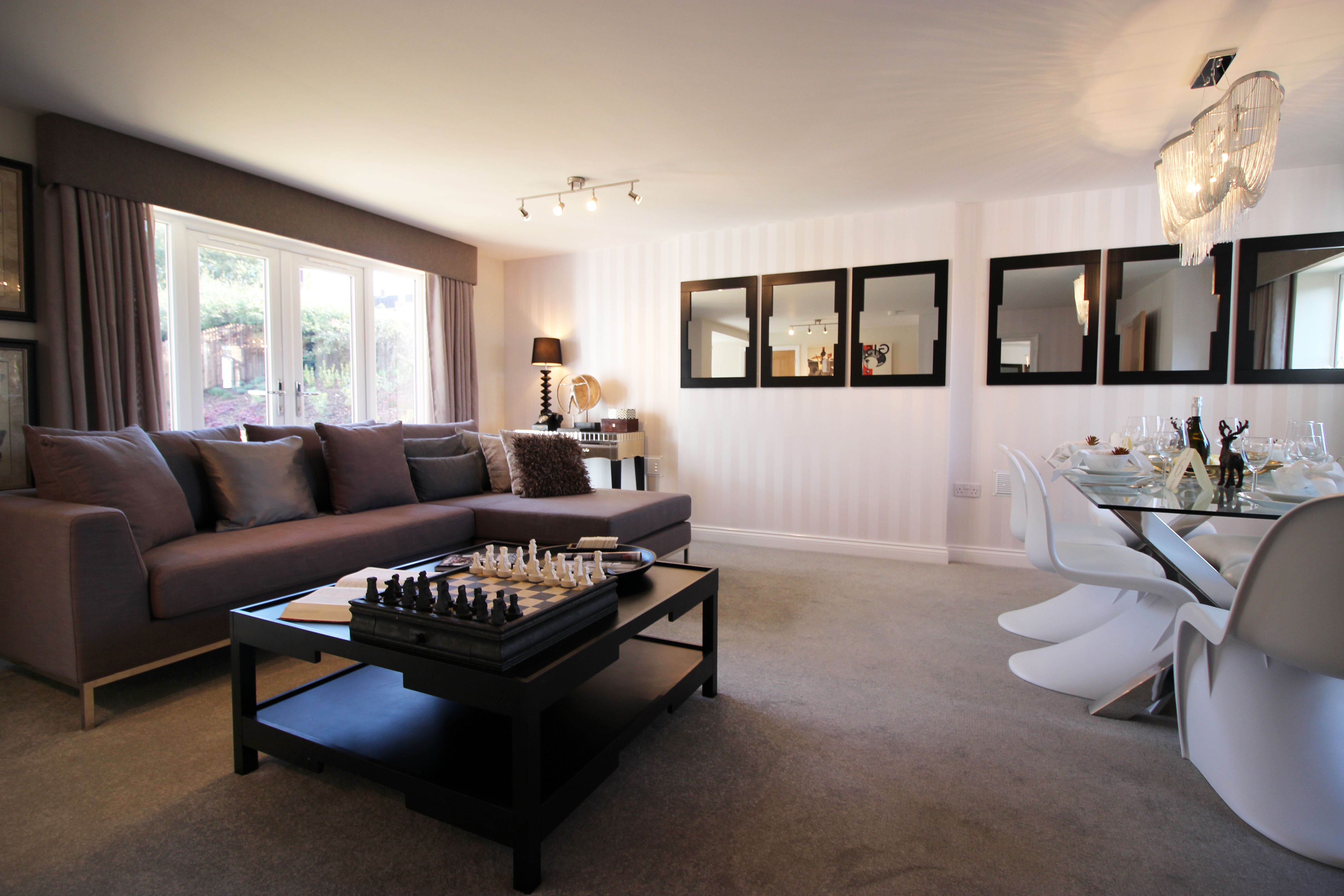 Winchester house showhome living room hathorn manor rugeley