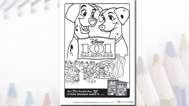 101 Dalmatians colouring Printable activities