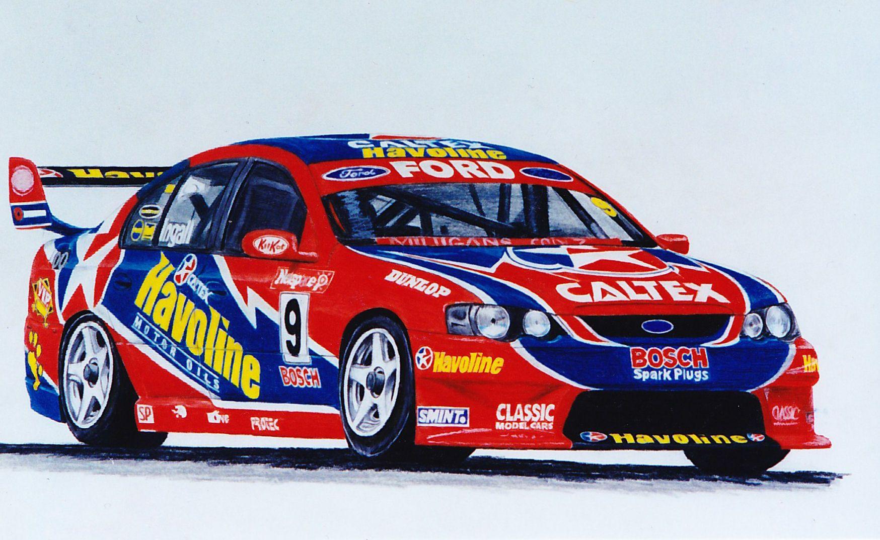Russell Ingall Ba Falcon Super Cars Australian Cars Aussie Muscle Cars