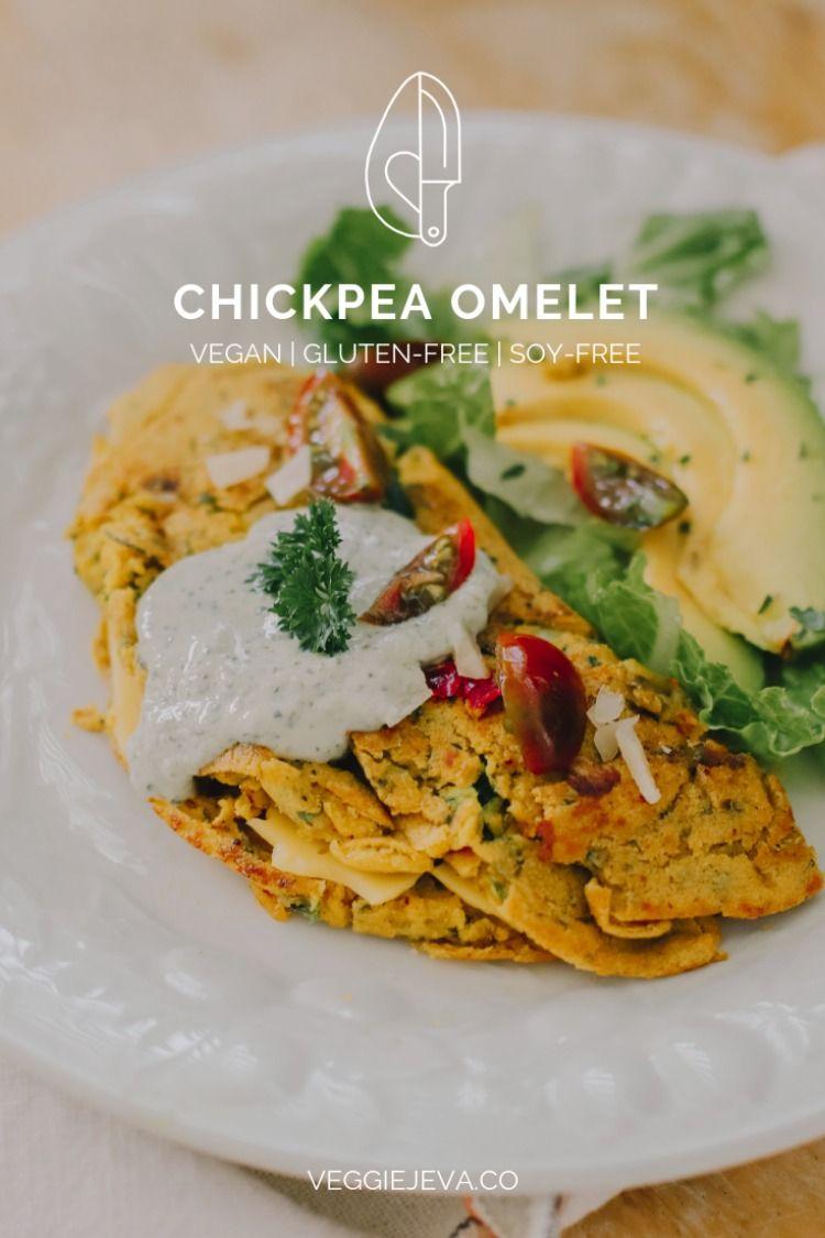 Chickpea Omelet Omelet Italian Recipes Vegan Breakfast