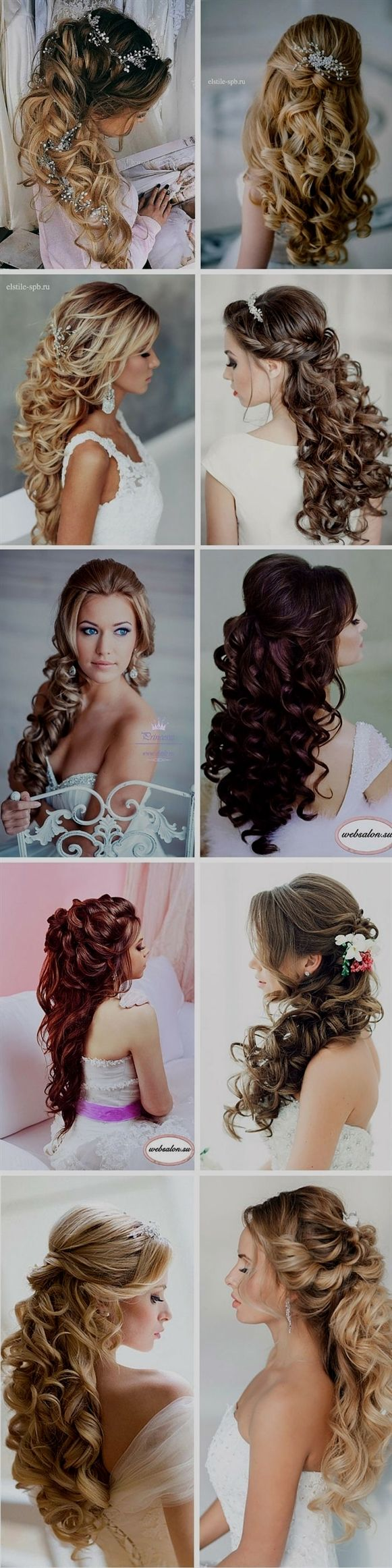 We collected the best half up half down wedding hairstyles ideas