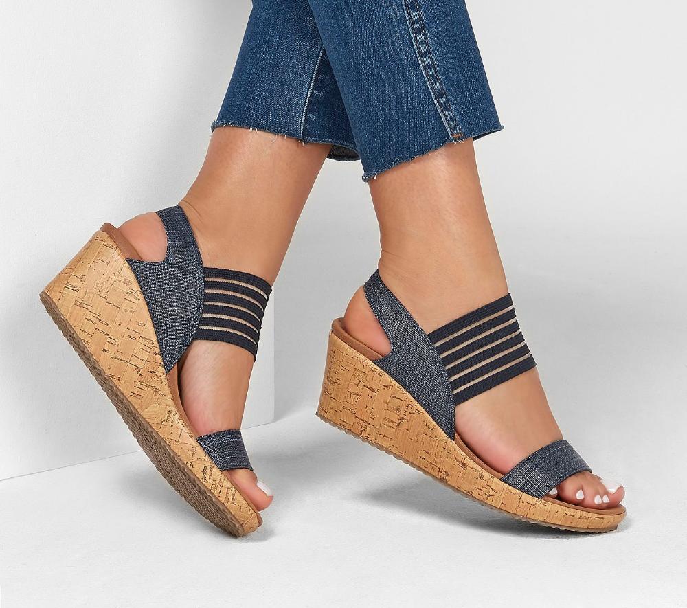 Shop The Beverlee Smitten Kitten Sandal In 2020 Comfortable Sandals Skechers Store Wedges