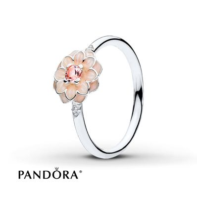 97d653485d2 PANDORA Ring Blooming Dahlia Sterling Silver