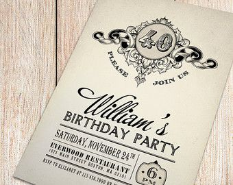 I Love This Invitation Design Vintage 40th Birthday