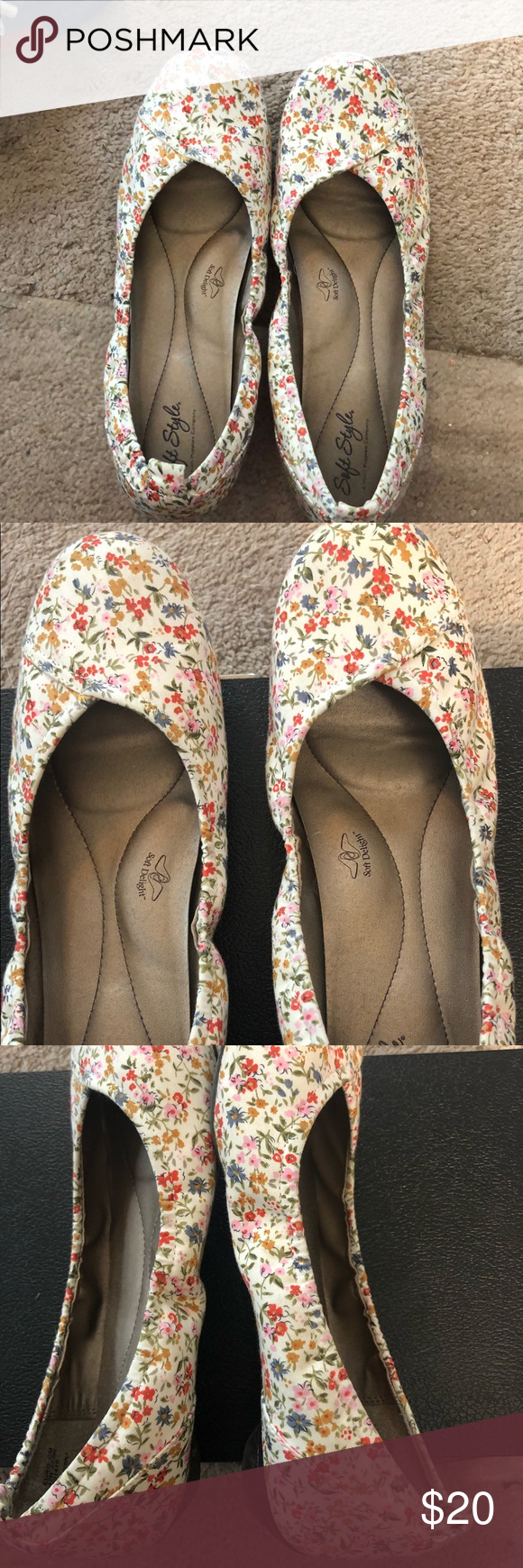 Hush Puppies Soft Style Size 10 Shoe This Multicolored Floral Size 10 Shoe Is In Excellent Condition Very Comfort Size 10 Shoes Hush Puppies Shoes Hush Puppies