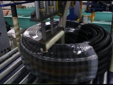 Automatic hose coil packing machine/packing line