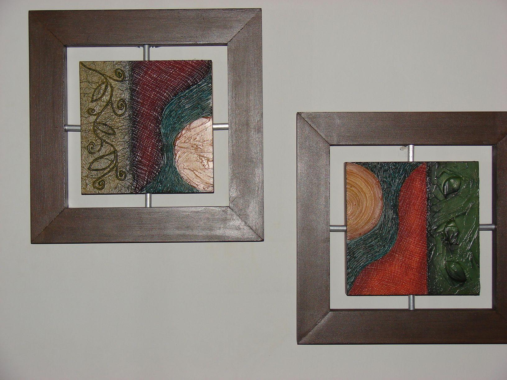 cuadro marco flotante con textura | Arte hecho a mano | Pinterest ...
