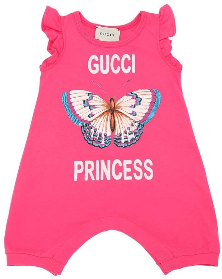 f39980e18 Gucci Princess Butterfly Print Cotton Jersey Romper #babygirl, #gucci,  #romper, #promotion
