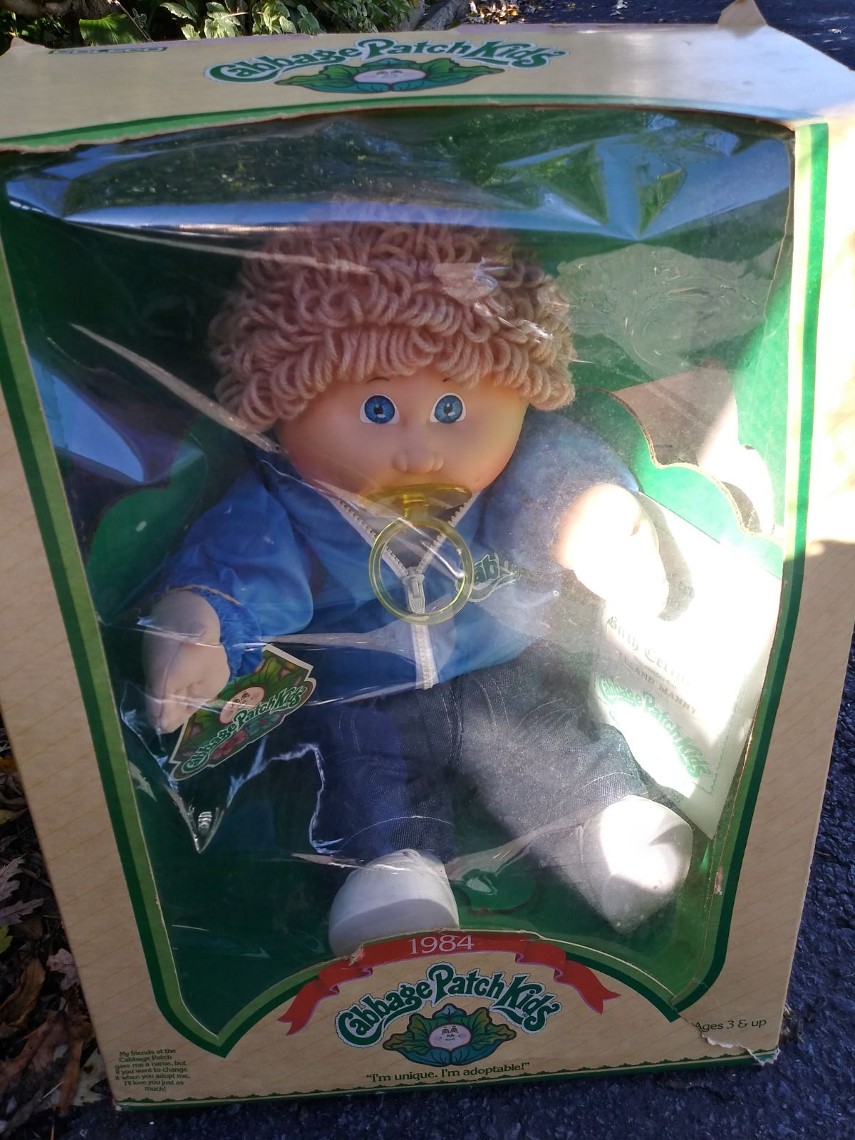 Original 1984 Boy Cabbage Patch Doll Still Attached Inside Box Never Opened Cabbage Patch Dolls Cabbage Patch Kids Dolls Cabbage Patch Kids