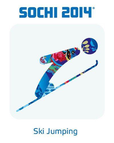 #2014 #Sochi #Winter #Olympic #Games: #Ski #Jumping #Pictogram