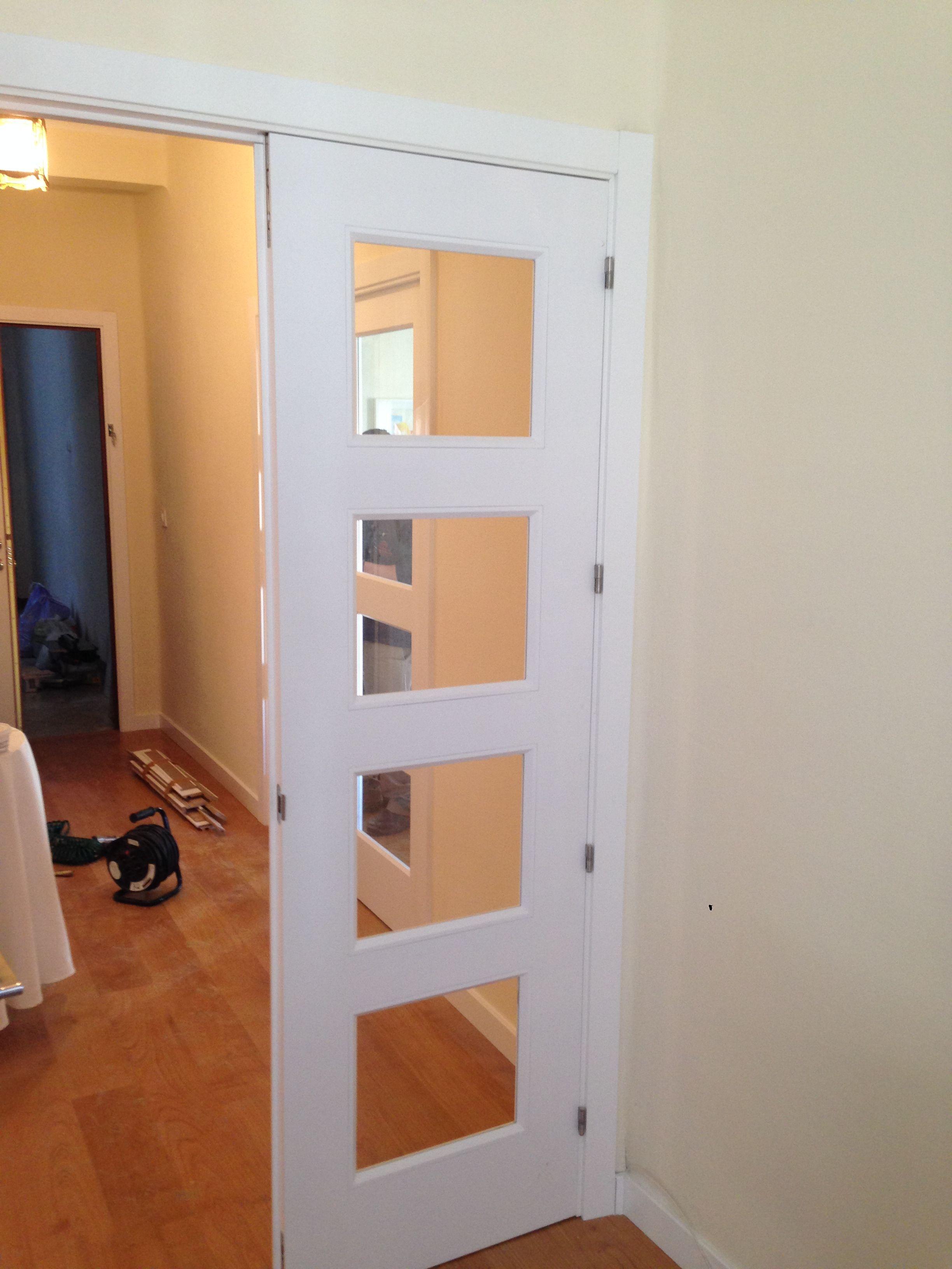 Modelo bosco v4 lacado blanco con cristal transparente en for Precio puertas macizas lacadas en blanco