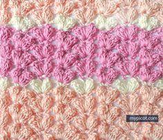 MyPicot | Simple Textured Popcorn Stitch (pic 2 of 2) | Free crochet patterns