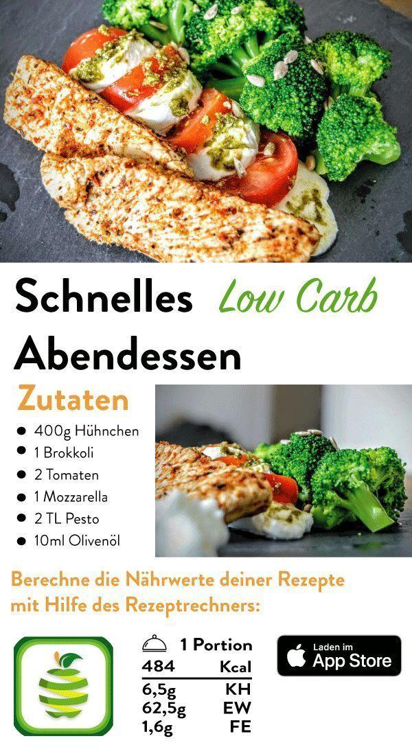 Schnelles Abendessen ohne Kohlenhydrate - Evelyn Kresinger - Ich Folge - Fitness -   #Abendessen #Ev...