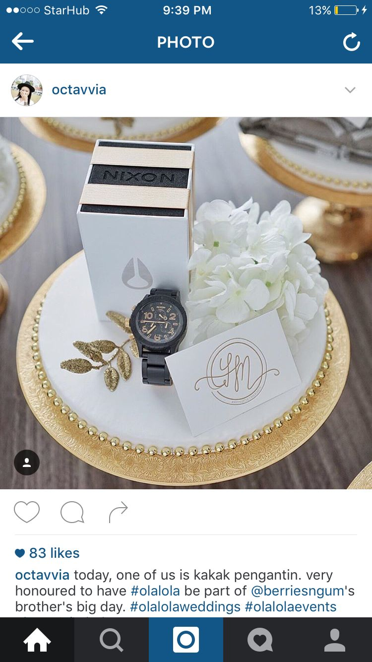 White And Gold Wedding Gift Boxes