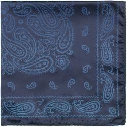 Etro Paisley Silk Pocket Square Navy EtroEtro