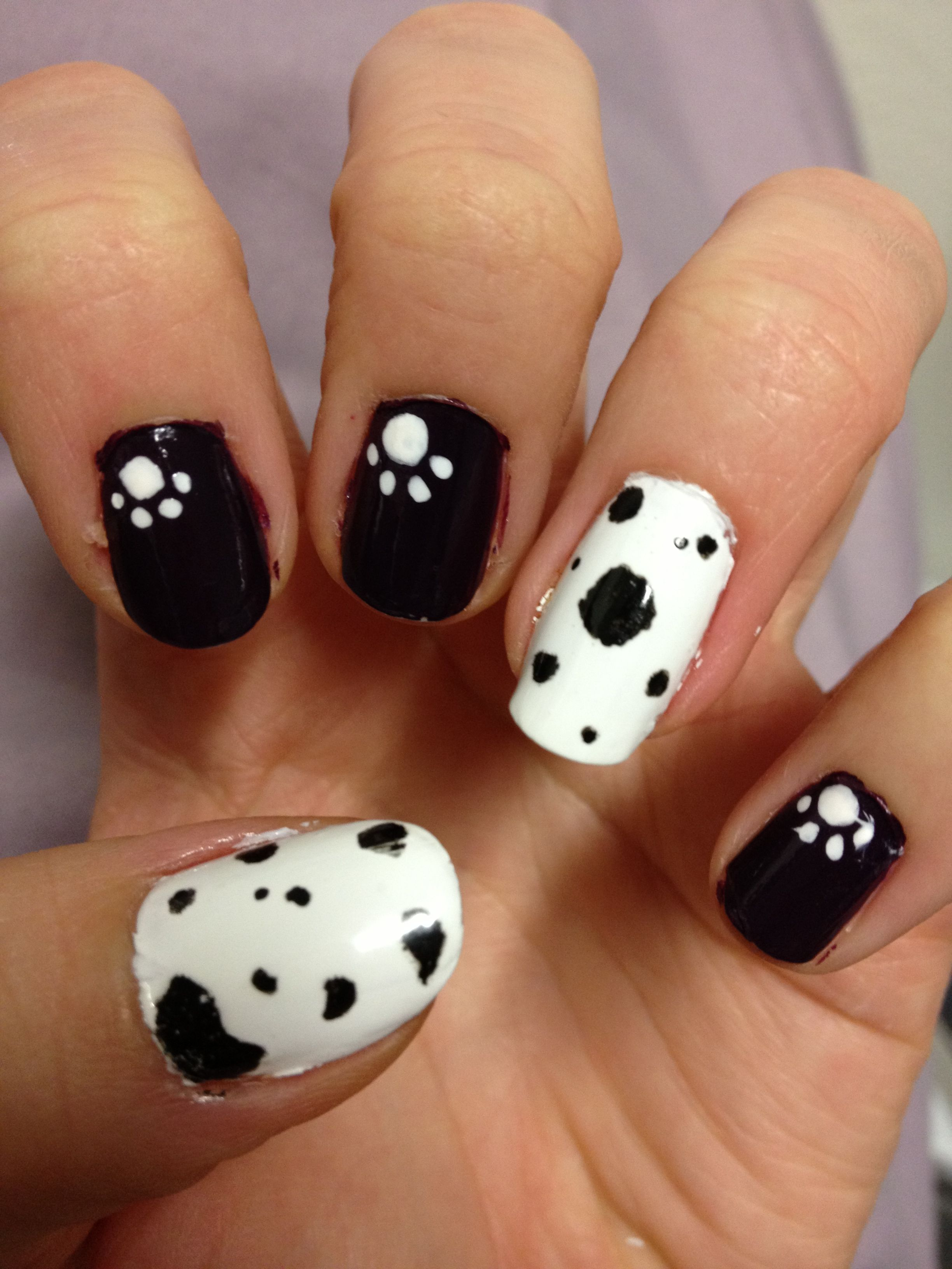Dalmatian :) | Nails | Pinterest | Dalmatian and Makeup