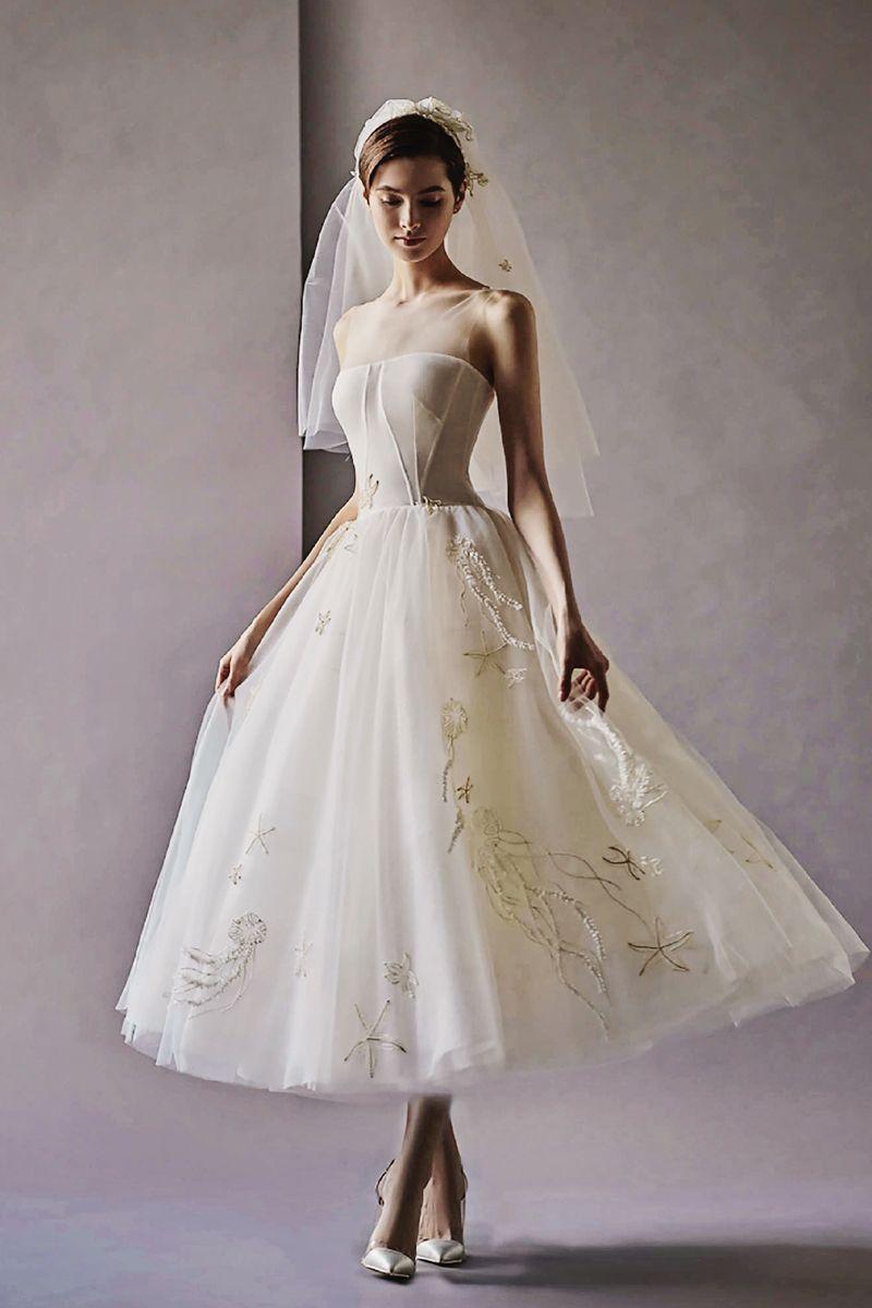 timelessly beautiful tea length wedding dresses tea length