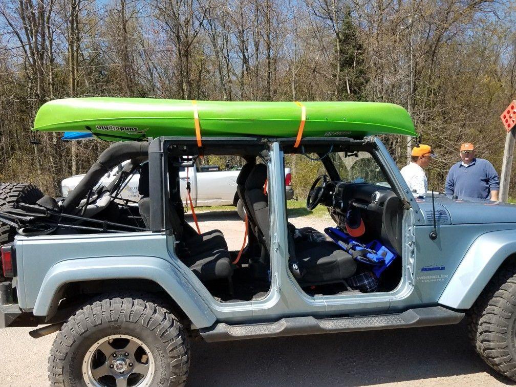 No Doors And Kayak Top Kayak Roof Rack Jeep Life Jeep