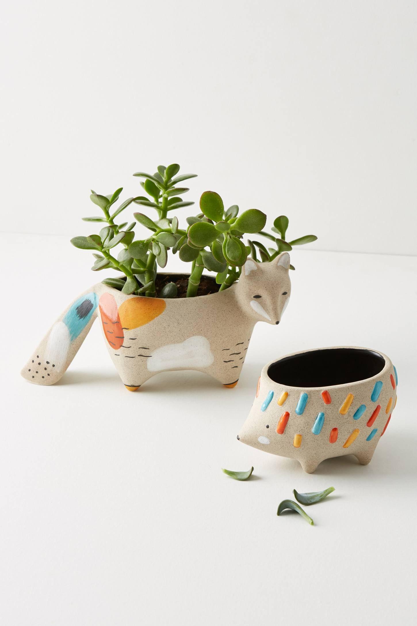 Woodland Animal Pot Woodland Animal Gifts Pottery Plant Pots