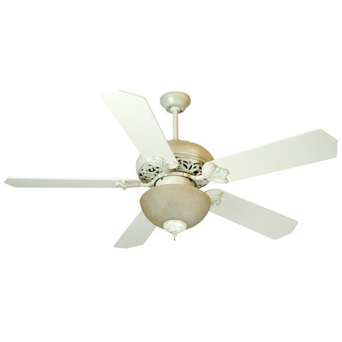 Craftmade mia antique white distressed ceiling fan with 52 inch craftmade mia antique white distressed ceiling fan with 52 inch standard antique white blades and tea stained light kit aloadofball Gallery