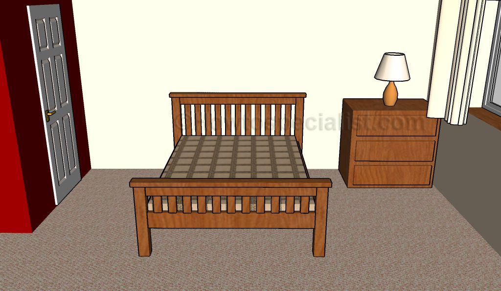 Full size bed frame plans | HowToSpecialist - How to Build, Step by Step DIY Plans