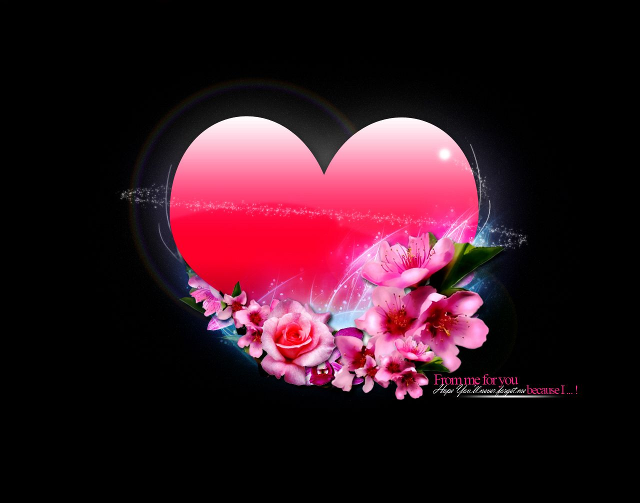 Pink Heart With Flowers Heart Wallpaper Love Wallpaper Love Wallpaper Backgrounds