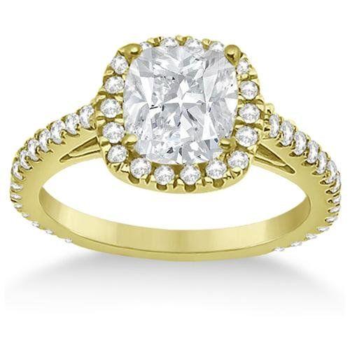 Cushion Diamond Engagement Rings Halo Setting 36