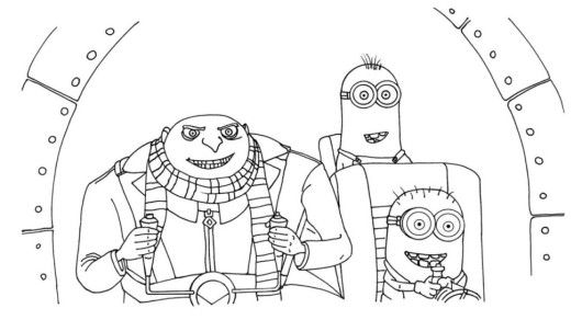 Gru And Minions Despicable Me Coloring Pages Super Coloring